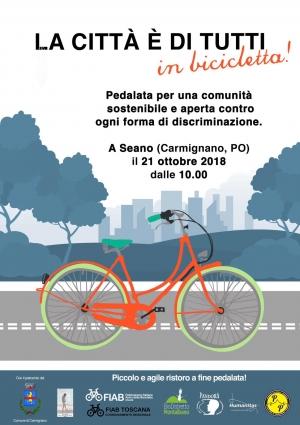 """La città è di tutti – in bicicletta! Domenica 21 ottobre Fiab pedala a Seano contro le discriminazioni """"a mezzo ciclabile"""""""