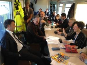 Fiab ha lanciato la sua campagna elettorale: prima tappa sul treno di Renzi